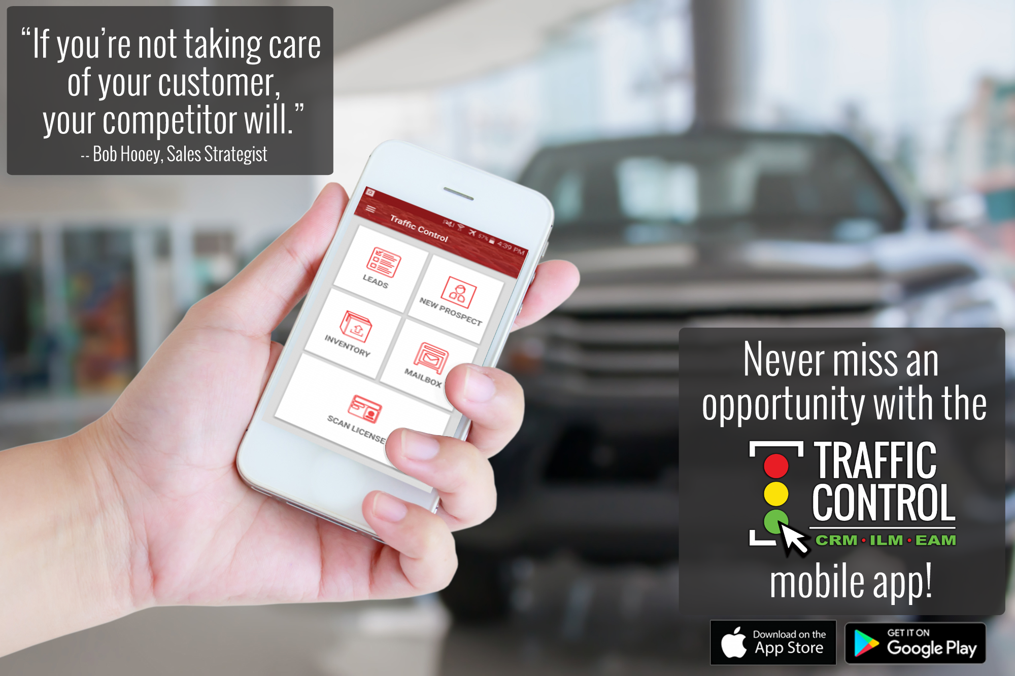 Traffic Control CRM For Auto Dealerships Mobile App