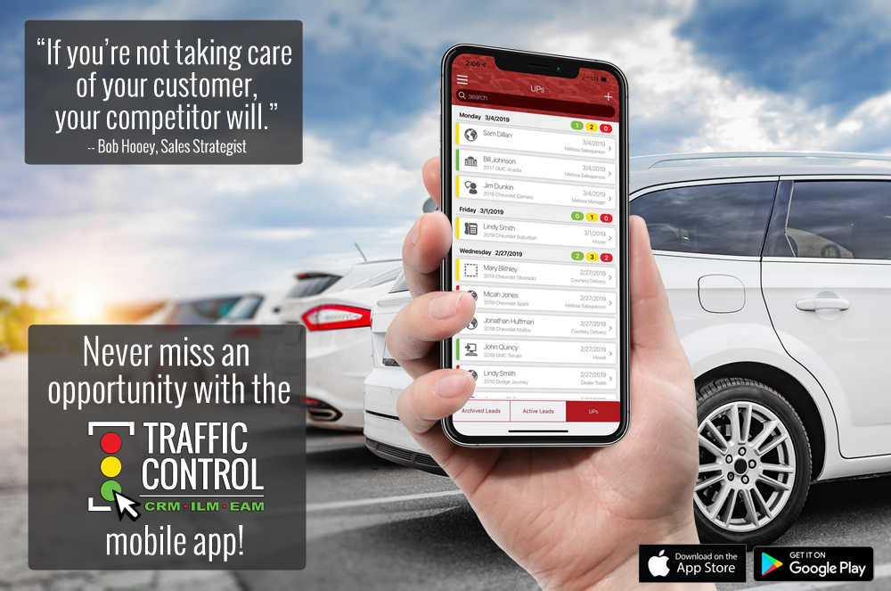 Traffic Control CRM Mobile App for Auto Dealers